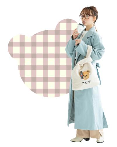 くま刺繍トートバッグ
